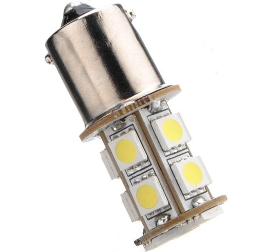 1156 BA15S 13 x 5050 SMD LED White 12V Autolamp