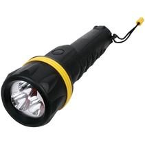 HQ Ultra Heldere Waterdichte Rubbere 3 LED's Zaklamp Black