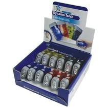 HQ Toonbankdisplay met 3 LED's 12 stuks Plastic Zaklampen