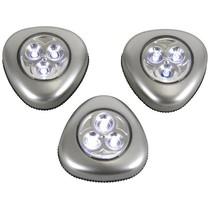 Perel Zelfklevende LED Lampen 3 stuks