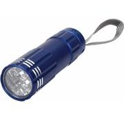HQ HQ Ultra Heldere Waterdichte Aluminium 9 LED's Zaklamp Blue