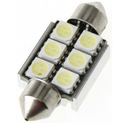 Festoon 6 x 5050 SMD LED Canbus White 36 MM 12V Autolamp