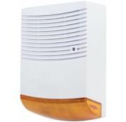 Konig Konig Dummy Orange LED Alarmsirene - White