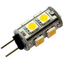 G4 9 x 5050 SMD LED Warm White 12V Chip