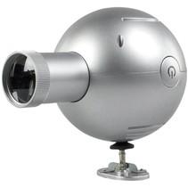 Balance Time LED Analoge Projectieklok Silver + Adapter