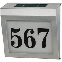 Brennenstuhl Design RVS LED Huisnummer op Zonne-energie