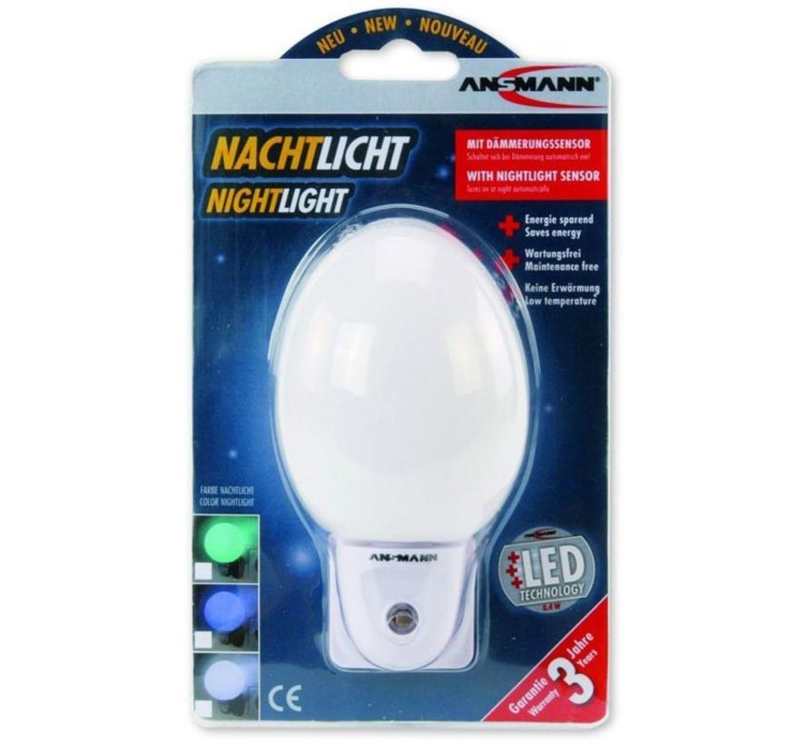 Ansmann NL-4W Eivormig LED Nachtlampje - White