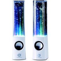 Conceptronic CLLDWASPKW Dancing Water LED Speakers - White