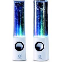 Conceptronic CLLDWASPKW Dancing Water LED Speakers - White