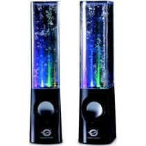 Conceptronic CLLDWASPKB Dancing Water LED Speakers - Black