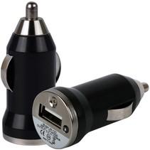 Universele LED USB Mini Autolader / Car Charger Adapter Black