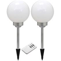 Ranex Solar LED Gemini Tuinlamp 2-set met Afstandsbediening