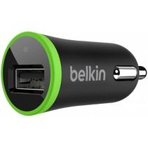 Belkin LED USB Autolader 2,1A - Green Ring Black