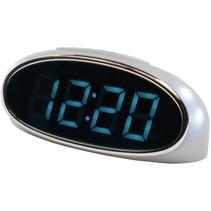 Balance Time Blue LED Wekker - Silver
