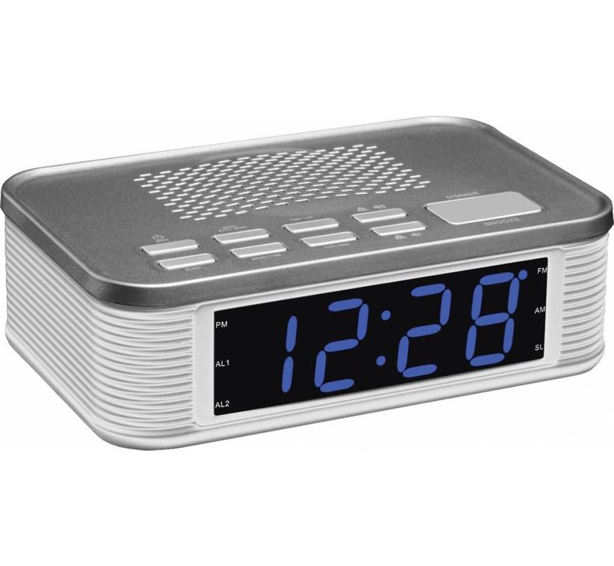 Balance Time Blue LED PLL AM/FM Wekkerradio - Silver