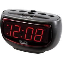 Balance Time Red LED Wekker - Antraciet
