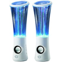 Conceptronic CLLDWASPKW2 Dancing Water LED Speakers - White