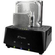 Fantec MR-Copy DU3 HDD USB 3.0 LED Docking Station - Black