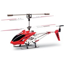 Syma S107G 3-Channel RC Mini LED Helicopter - Red