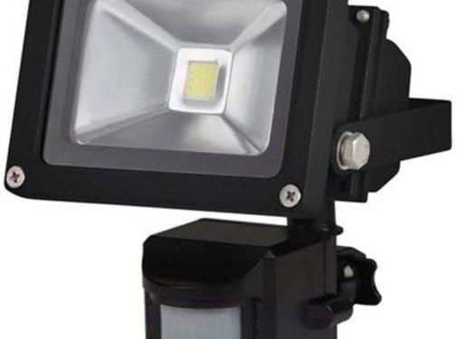 Perel Perel LEDA3001WW-BP COB 3800K LED Lamp met Bewegingssensor 10 W - Black
