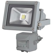 Perel LEDA3001WW-GP COB 3800K LED Lamp met Bewegingssensor 10 W - Grey