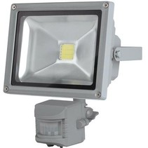 Perel LEDA3002CW-GP COB 6500K LED Lamp met Bewegingssensor 20 W - Grey