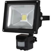 Perel Perel LEDA3002WW-BP COB 3800K LED Lamp met Bewegingssensor 20 W - Black