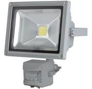Perel Perel LEDA3002WW-GP COB 3800K LED Lamp met Bewegingssensor 20 W - Grey