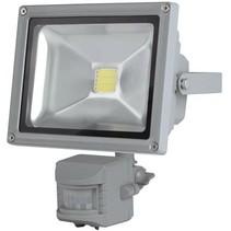 Perel LEDA3002WW-GP COB 3800K LED Lamp met Bewegingssensor 20 W - Grey
