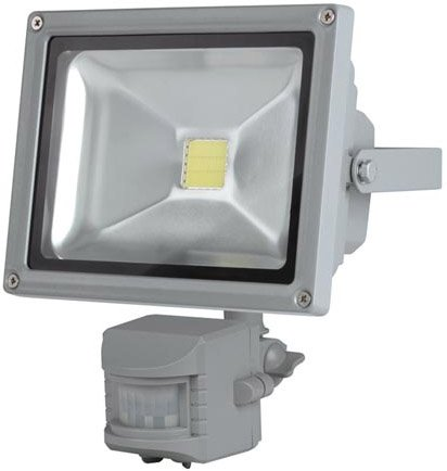 Perel LEDA3002WW-GP COB 3800K LED Lamp met Bewegingssensor 20 W – Grey
