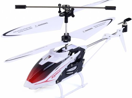 Syma Syma S5 Speed 3-Channel RC Mini LED Helicopter - White