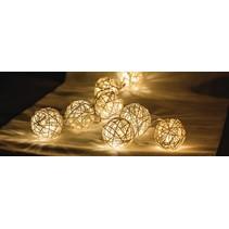 HQ 10 LED's Lichtslinger - Rieten Bal