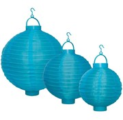 Party LED Lampion 3-set - Blue