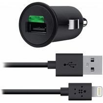 Belkin 2.1A Car Charger + Lightning ChargeSync Cable for iPhone 5 - Black