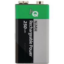 HQ NiMH 9V-batterij 250 mAh Oplaadbaar - 1 set