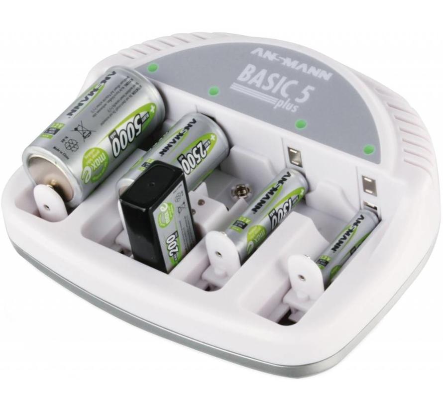 Ansmann Basic 5 Plus Universele Batterijlader - Wit