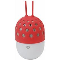 Conceptronic CSPKBTWPHLR Wireless Waterproof Bluetooth LED Speaker - Rood