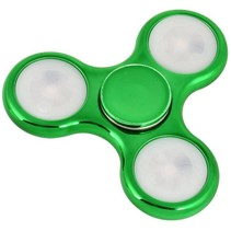 LED Fidget Hand Spinner - Chroom Groen