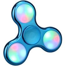LED Fidget Hand Spinner - Chroom Blauw