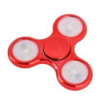 LED Fidget Hand Spinner - Chroom Rood