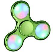 LED Fidget Hand Spinner - Chroom Lichtgroen