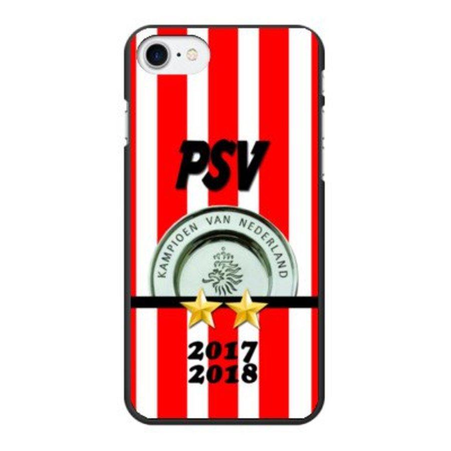 PSV Kampioen 2017 - 2018 hardcover iPhone 7/8 - zwart-1