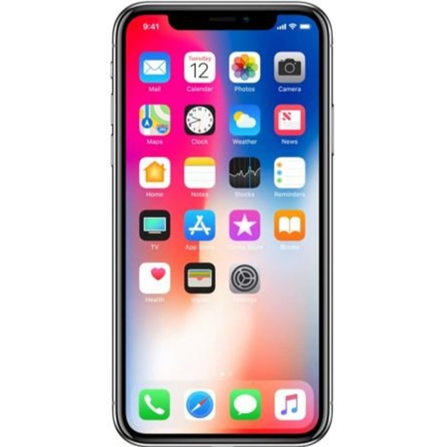 Apple iPhone X 64GB Silver (64GB Silver)-1