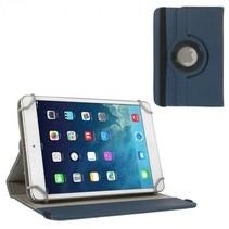 7 inch tablet hoes 360 graden draaibaar donker blauw - universeel