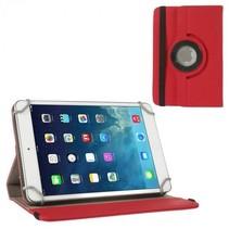 7 inch tablet hoes 360 graden draaibaar rood - universeel