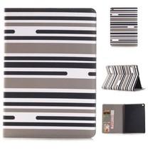 iPad Mini 4 Wallet Case met Strepen Zwart Wit