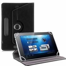 Universele 8 inch tablet hoes 360 graden draaibaar zwart