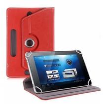 Universele 8 inch tablet hoes 360 graden draaibaar rood