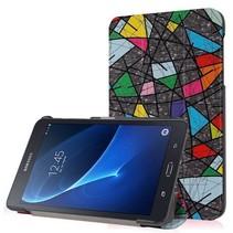 Samsung Galaxy Tab A 7.0 Tri-Fold Book Case Retro