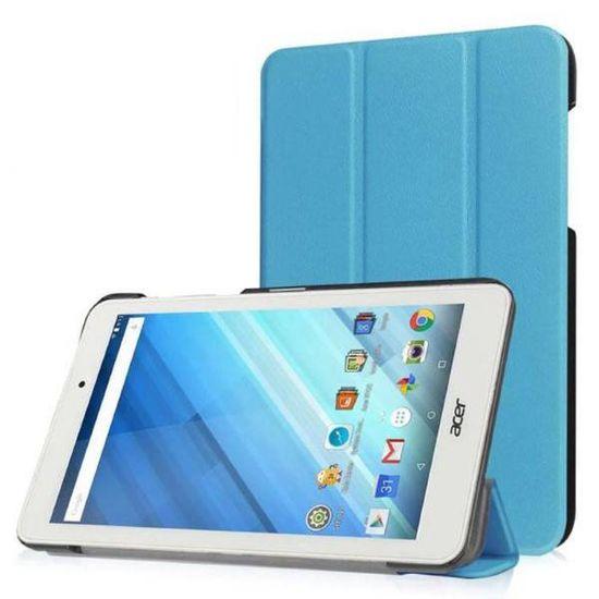 Case2go Acer Iconia One 7 B1-770 Tri-Fold Book Case Licht Blauw